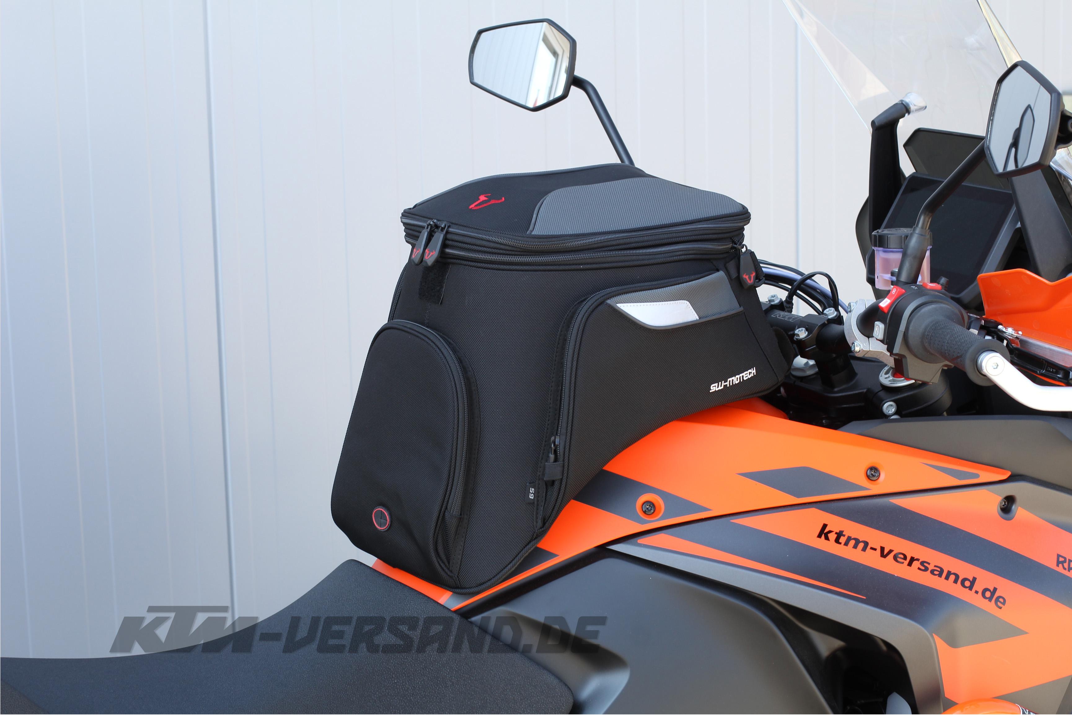 SW-Motech EVO Daypack Motorrad Tankrucksack Tasche 5-9 Liter Schwarz Grau