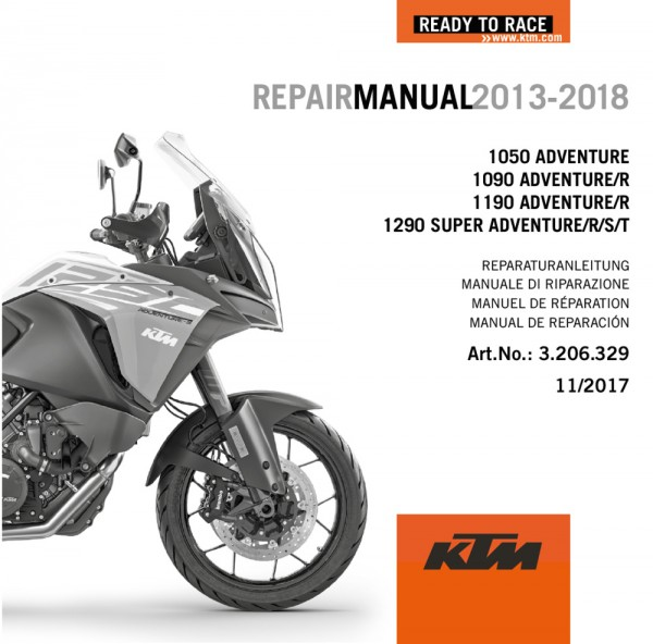 DVD REPARATURANLEITUNG 1050/1090/1190/1290 ADVENTURE 2013-