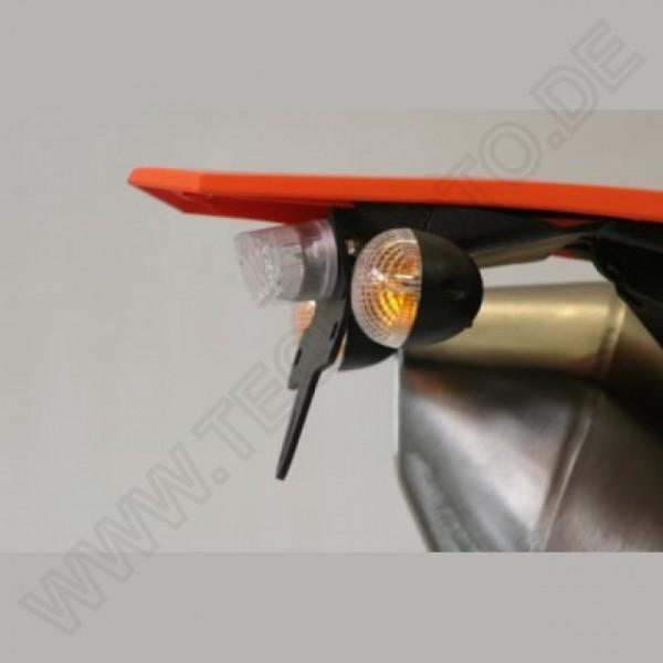 R&G Kennzeichenhalter kurz KTM 690 ENDURO / 690 SMC 2008-2018 -- Rücklicht getönt --