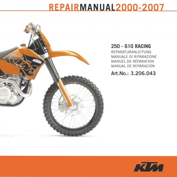 CD-ROM REPARATURANLEITUNG 250 - 610 RACING 2000-2007